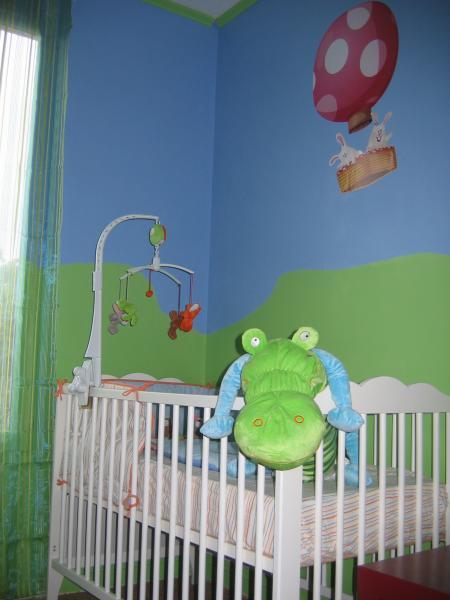 Chambre Vert Et Bleu