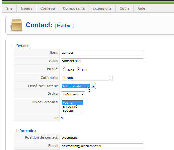 formule de contact forum joomla    axplanerac ml