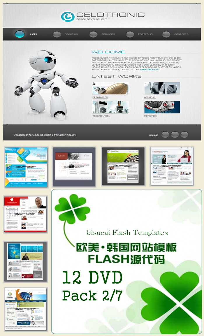 Flash web templates collections dvd 7 for Dreamweaver templates torrent