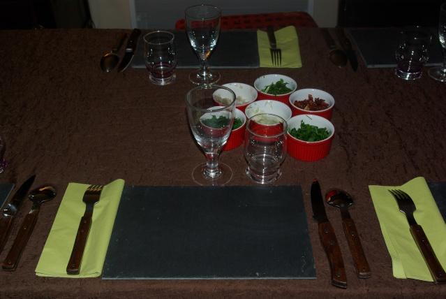 Decoration De Table Menu Rouge : Mes d� corations de table balade gourmande c� cile