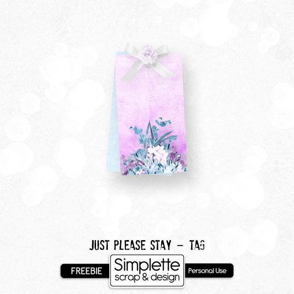 freebie gratuit tag just please stay simplette