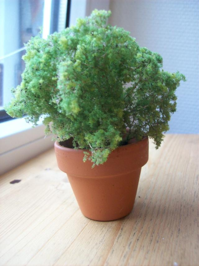 Tuto minia faire une plante en pot avec de l cume de for Acheter une plante