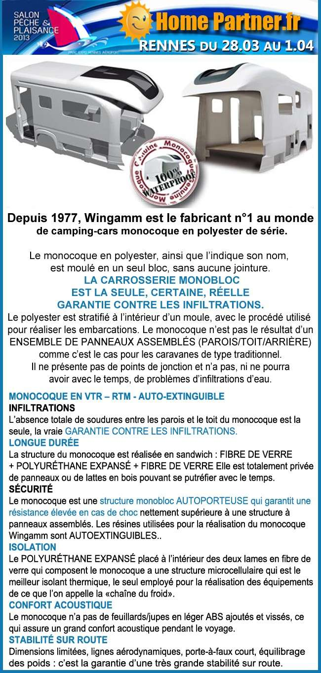 Salon rennes p che et plaisance 28 03 au 01 04 13 forum for Salon camping car rennes