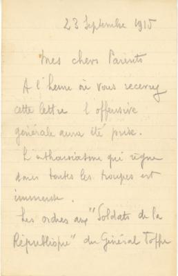 lettre de poilus 3eme