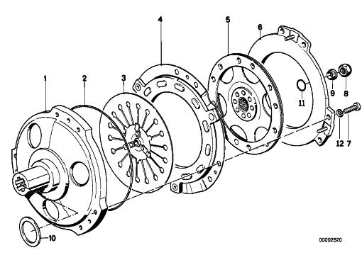 flywheel  clutch housing