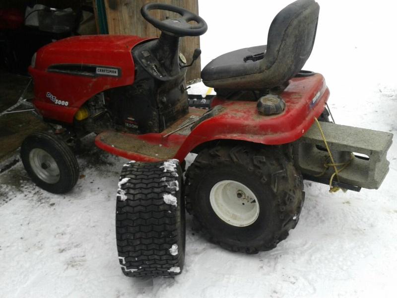 Big Tires On Garden Tractor : Project craftsman mud mower