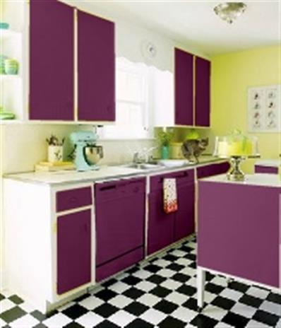 Votre avis m 39 interesse sols murs pour cuisine salon s a m for Peinture aubergine cuisine