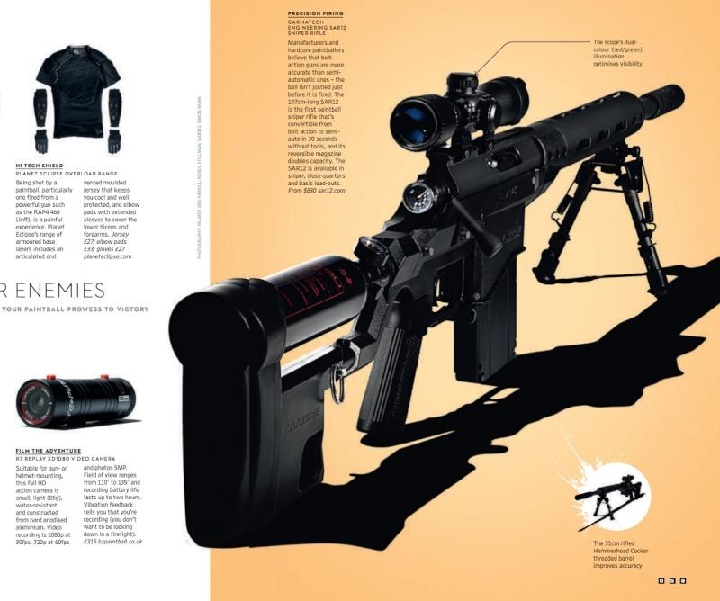 Sar12 paintball sniper rifle